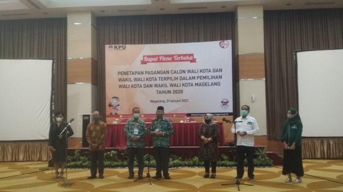 KPU Tetapkan Nur Aziz-M Mansyur Sebagai Walikota dan Wakil Walikota Terpilih Kota Magelang