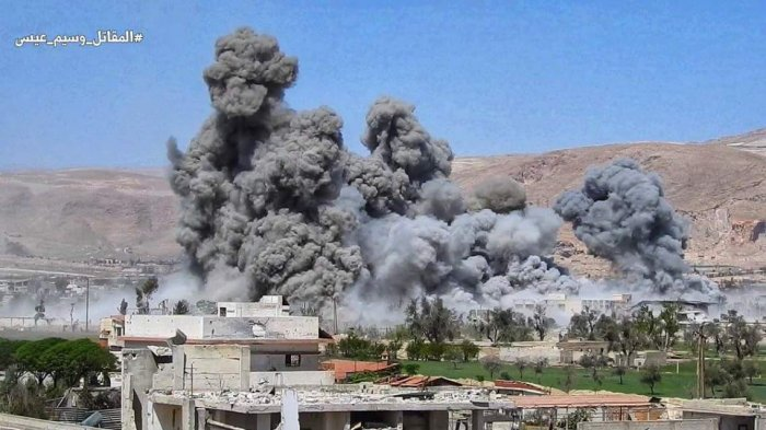 Tim Keamanan PBB Disambut Tembakan dan Ledakan di Kota Douma di Suriah