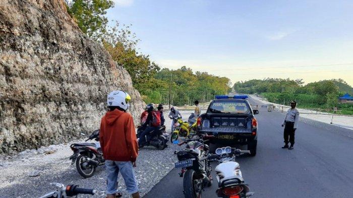Patroli Balap Liar, Polres Gunungkidul Amankan 10 Sepeda Motor