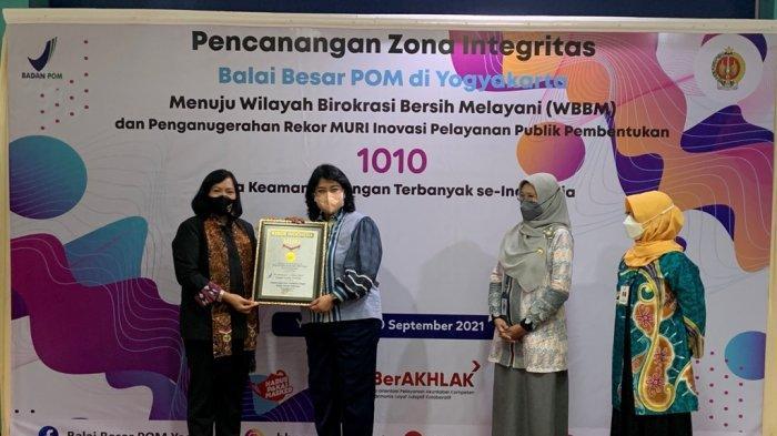 Pecahkan Rekor MURI, BBPOM di Yogyakarta Bentuk 1010 Duta Keamanan Pangan