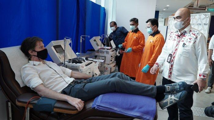 Peduli COVID-19,Karyawan XL Axiata Ikuti Donor Plasma Konvalesen
