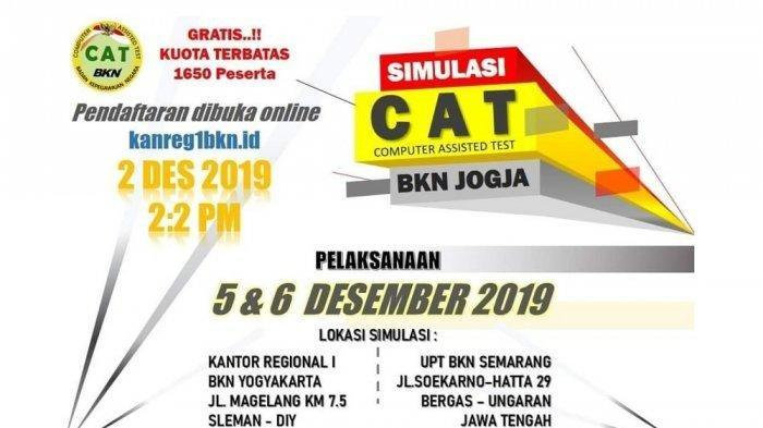 Pelamar CPNS 2019 Bisa Ikut Simulasi Tes CAT BKN di Yogyakarta dan Semarang, Begini Caranya
