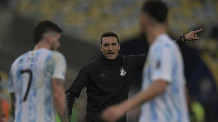 Pelatih Argentina Lionel Scaloni
