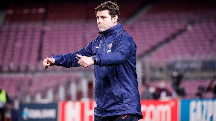 Pelatih PSG Mauricio Pochettino jelang laga melawan Barcelona di Liga Champions