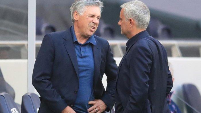 Jose Mourinho (Spurs) dan Carlo Ancelloti (Everton)