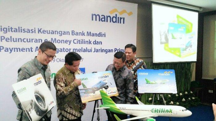 Citilink dan Bank Mandiri Terbitkan Uang Elektronik