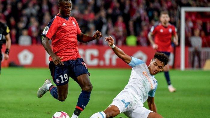 Pemain Marseille Boubacar Kamara yang disebut sebagai calon pengganti Franck Kessie di AC Milan
