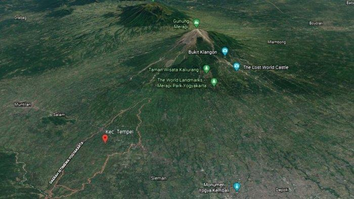 Peta Wilayah Daerah Istimewa Yogyakarta. Kecamatan Tempel akan dilewati jalur tol Yogyakara Bawen.