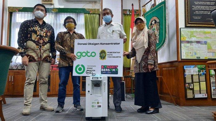 Pemkot Yogya Terima Bantuan 15 Konsentrator Oksigen dari GoTo