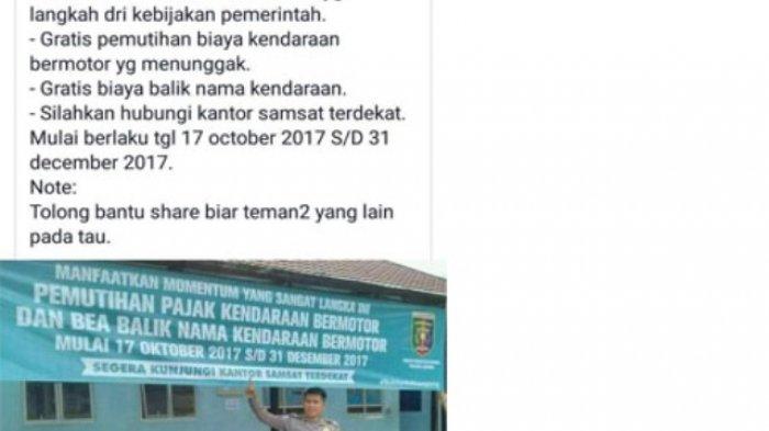 Belum Ada Pemutihan Penunggak Pajak dan Balik Nama Kendaraan Gratis di Yogyakarta