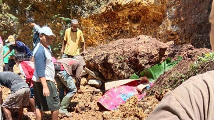 BREAKING NEWS : Seorang Penambang Batu di Umbulrejo Gunungkidul Tertimpa Longsor