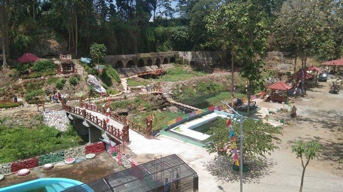 Penampakan area objek wisata Kalimosodo, Desa Sudimoro, Kecamatan Tulung, Kabupaten Klaten, Jawa Tengah, Senin (6/9/2021).
