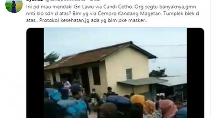 Penjelasan di Balik Video Viral Pendaki Gunung Lawu yang Berjubel di Tengah Pandemi COVID-19