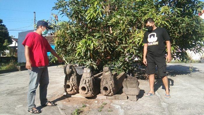 Arca Tanpa Kepala dan Tiga Jaladwara Ditemukan Warga Klaten di Dua Tempat Berbeda