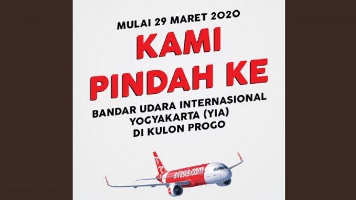 Penerbangan AirAsia di Yogyakarta Pindah keYIA Mulai 29 Maret 2020