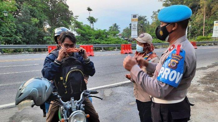 Selama 6 Hari Penyekatan, 21 Kendaraan Diputar Balik Arah di Patuk Gunungkidul