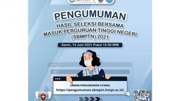 Cek Pengumuman Hasil SBMPTN 2021 Senin 14 Juni 2021 Pukul 15.00 WIB, Ini Daftar Mirror Link 30 PTN