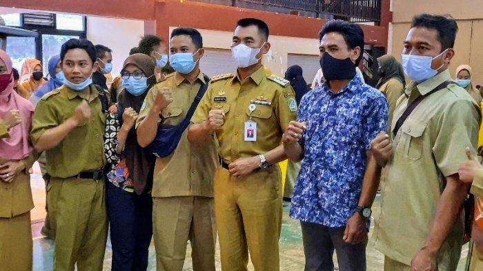 Penuhi Janjinya, Bupati Gunungkidul Sunaryanta Jamu Ratusan THL Pakai Gajinya