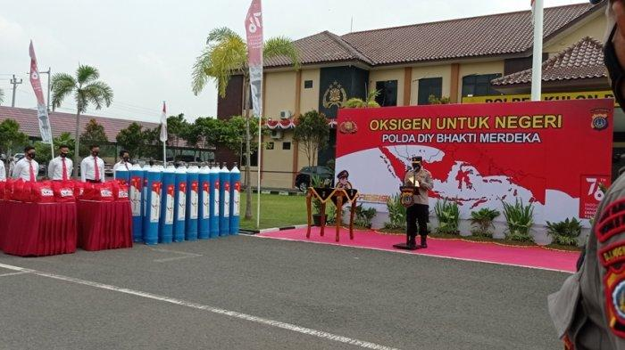 Penuhi Kebutuhan Oksigen, Polda DIY Distribusikan 100 Oksigen ke Shelter dan RS di Kulon Progo
