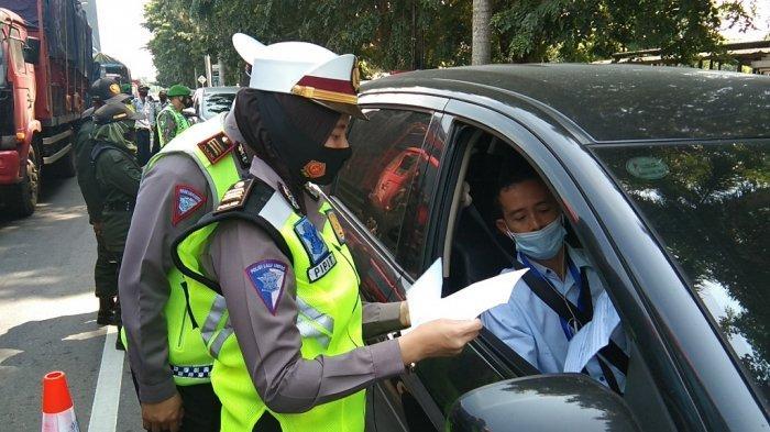 Polres Klaten Lakukan Penyekatan di Prambanan