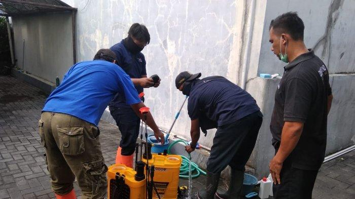 Antisipasi Covid-19, Mess PSIM Yogyakarta Disemprot Disinfektan