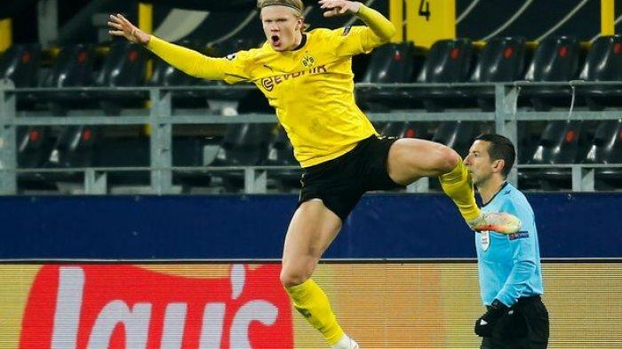 Penyerang Borussia Dortmund Erling Braut Haaland