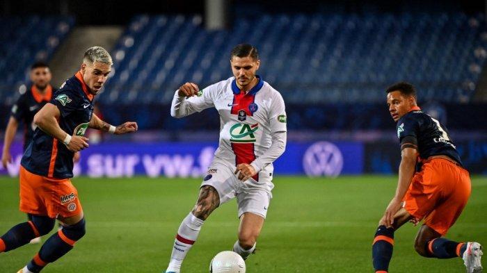 Penyerang Paris Saint-Germain (PSG) asal Argentina, Mauro Icardi disebut ditawarkan ke AC Milan