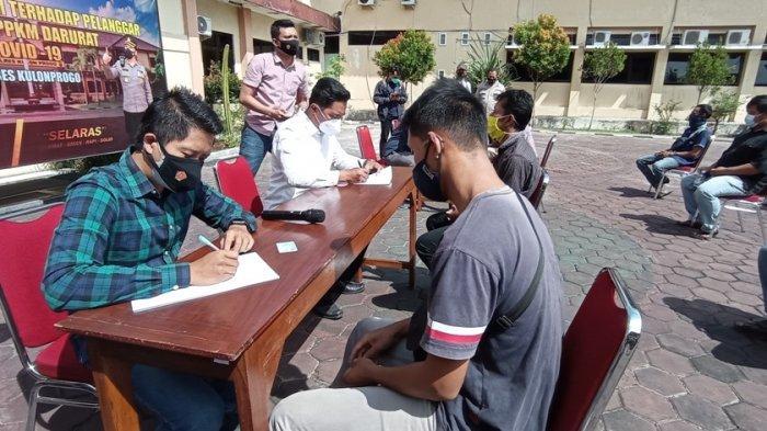 Polres Kulon Progo Periksa 17 Pelanggar Prokes