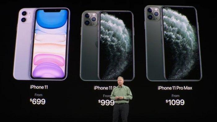 Ilustrasi harga trio iPhone 11
