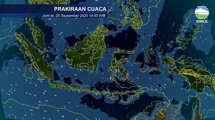 Ramalan Cuaca BMKG Sabtu 18 Juli 2021, Sembilan Wilayah Diprediksi Hujan Lebat, Berikut Daftarnya