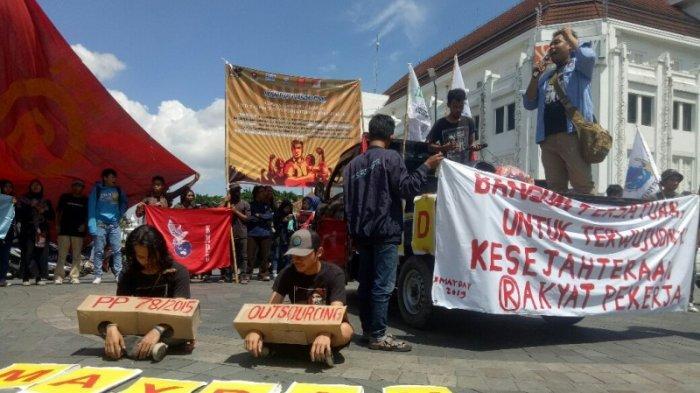 Peringatan May Day 2019 di Yogyakarta, Buruh Kembali Suarakan Upah Layak