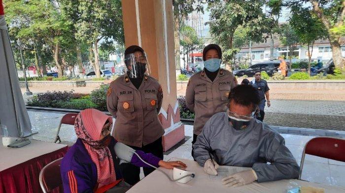 Peringati HUT ke-75 Bhayangkara, Polres Magelang Gelar Vaksinasi Covid-19 secara Massal