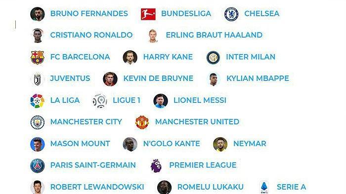 Peringkat 50 Pemain Sepakbola Terbaik 2021, Man City, Chelsea, MU, Barca, Milan, Juve