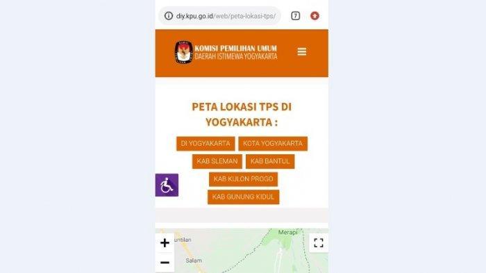 Permudah Pemilih, Website KPU DIY Sudah Dilengkapi Peta Lokasi TPS di DIY