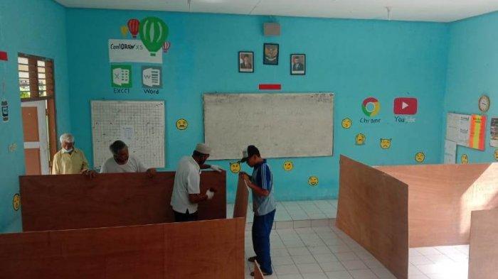 Persiapan PTM di Magelang, Bilik Pengungsi Merapi di Sejumlah Sekolah Dibongkar