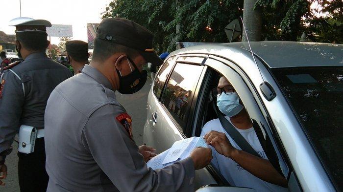 Terjaring Tak Bawa Surat, Belasan Pengendara Luar Daerah Jalani Tes di Pos Polisi Prambanan Klaten
