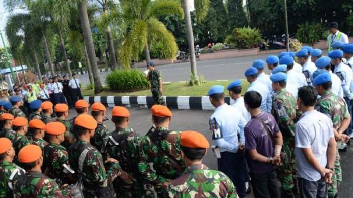 Ratusan Personel TNI AU Lanud Adisutjipto Siap Ikut Amankan Bandara Adisutjipto