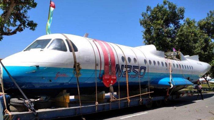 Pesawat N250 Gatotkaca Tiba di Museum Dirgantara, Siap Dipamerkan Awal September Mendatang