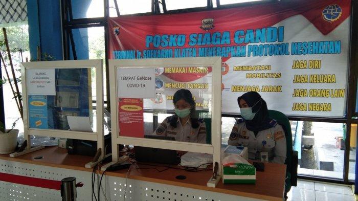 Cegah COVID-19, Penumpang di Terminal Ir Soekarno Klaten Jalani Tes GeNose C19 Secara Acak