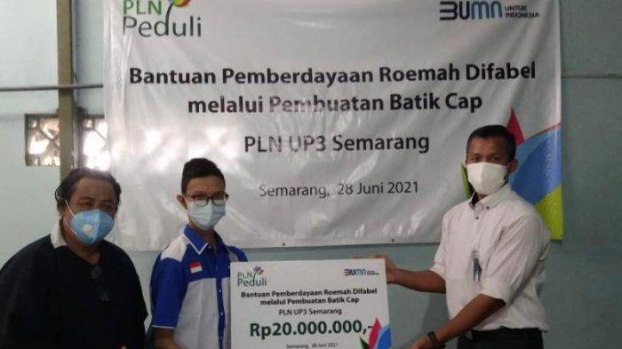 PLN Berikan Bantuan Sarana dan Prasarana Produksi Batik Cap ke Komunitas Difabel di Kota Semarang