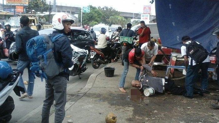 Polantas di Bogor Terkapar Dipukul Pelanggar Lalu Lintas Pakai Balok