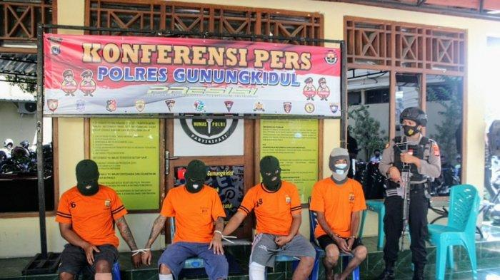 Polres Gunungkidul Ringkus Kelompok Pencuri Puluhan Ternak Warga