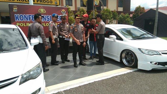 Polres Kulon Progo Hadirkan Pengemudi dalam Video Viral Balap Mobil di Underpass YIA