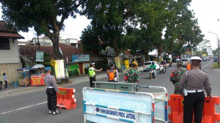 Polres Magelang Kota Bersama Personel Gabungan Laksanakan KRYD Penyekatan