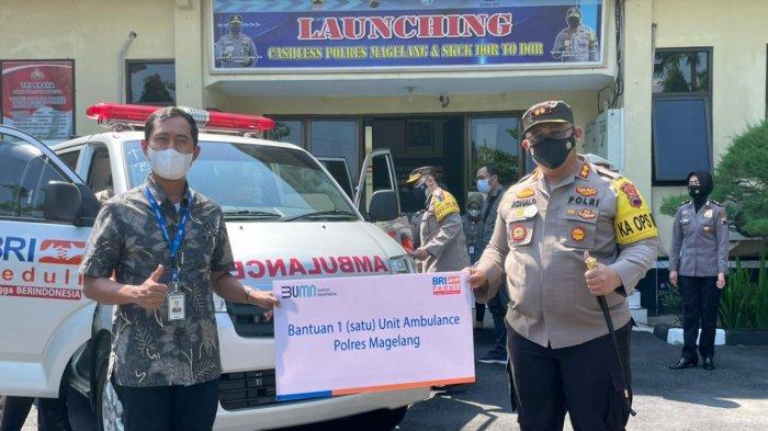 Polres Magelang Menerima Hibah Ambulans Dari BRI Cabang Magelang
