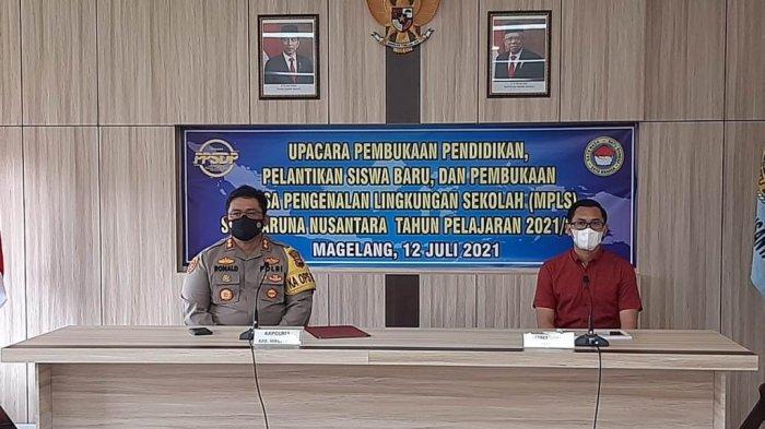 Polres Magelang Sosialisasikan Bahaya Narkoba pada Siswa Baru Taruna Nusantara