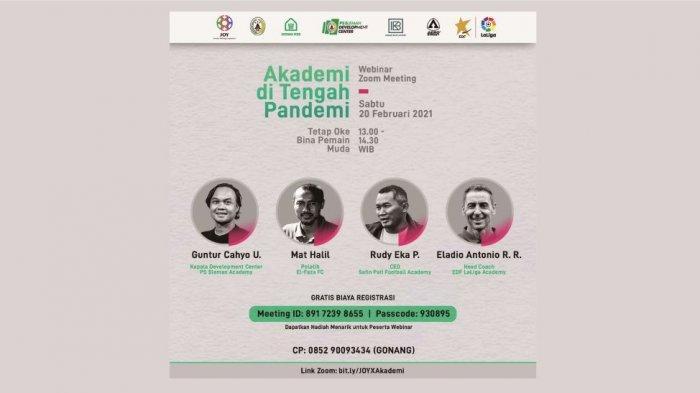 Jurnalis Olahraga Yogyakarta Gelar Webinar Mengulas Tantangan Pembinaan Sepak Bola Saat Pandemi