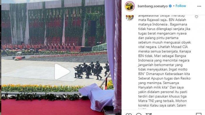 Postingan Ketua MPR RI Bambang Soesatyo yang diunggah di akun instragam pribadinya