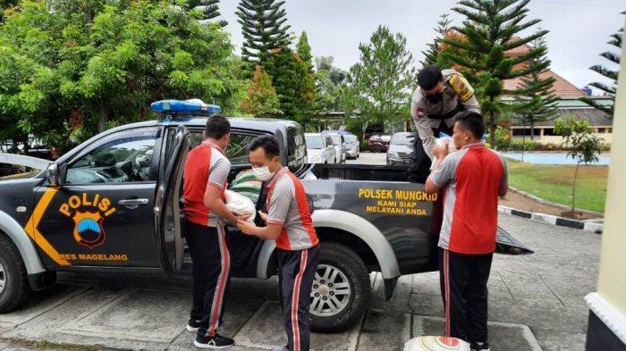PPKM Diperpanjang, Polres Magelang Salurkan 8,8 Ton Beras dari Kemenko Marves