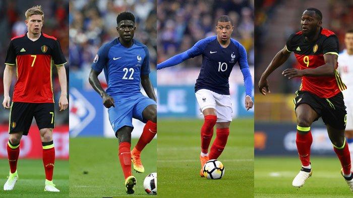 Prediksi Prancis vs Belgia - Skema Head to Head Pemain Kunci Prancis Belgia